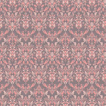 Ornate damask vintage wallpaper. Vector seamless pattern Banque d'images - 167018111