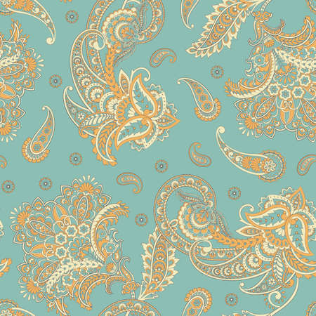 Paisley Damask ornament. Seamless Vector pattern Banque d'images - 167018191