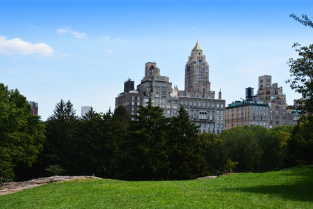 Central Park New York view or skyline