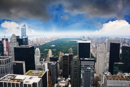 New York Central Park view point telescope from Rockefeller building Zdjęcie Seryjne - 73593585