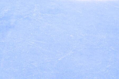 Top view of ice hockey or skating rink with traces from skates Standard-Bild