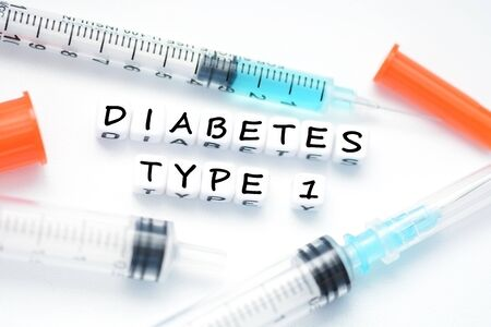 Type 1 diabetes metaphor suggested by insulin syringe Zdjęcie Seryjne