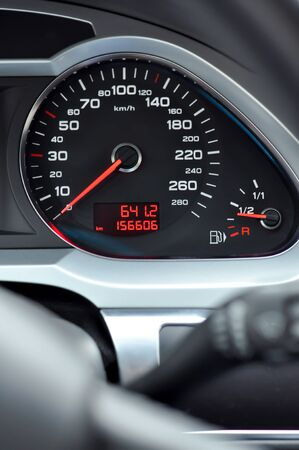 Car speedometer interior detail Zdjęcie Seryjne