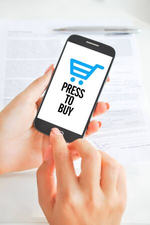 Buy online with mobile phone