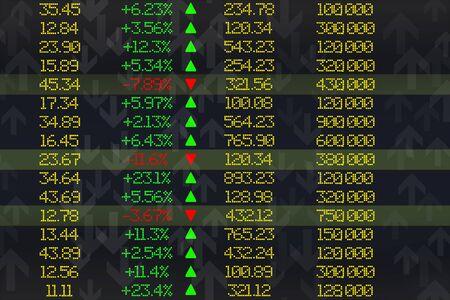 High resolution stock exchange evolution electronic screen or display Standard-Bild
