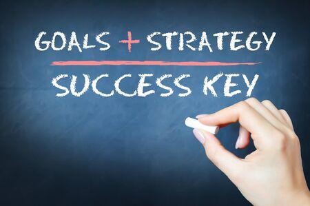 The key to success equation on a blackboard Zdjęcie Seryjne