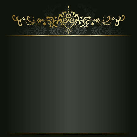 artistic flower: Artistic flower golden background for your text.