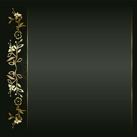 elegant: Artistic flower golden background for your text.