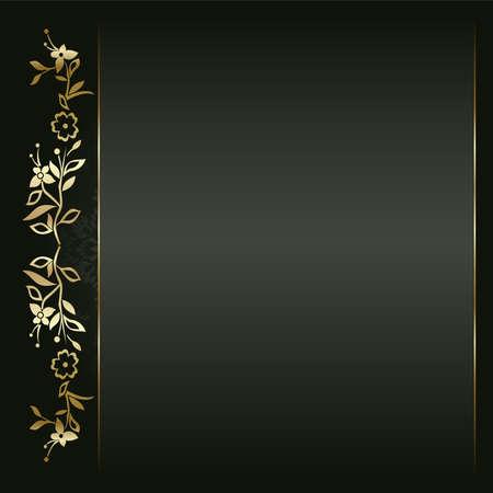 elegante: Artistico sfondo fiore d'oro per il testo.