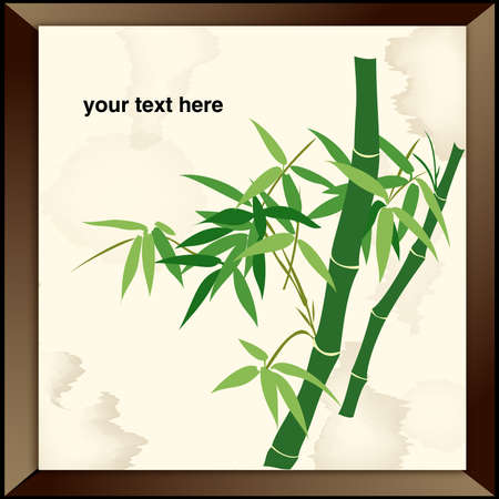 Bamboo - Chinese Painting Vector