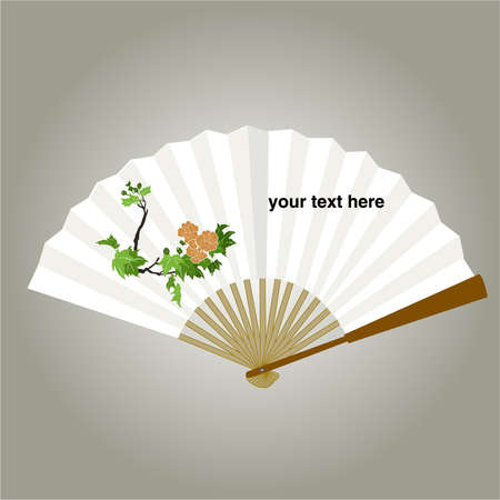 white fan: chinese fan painping vector Backgrounds