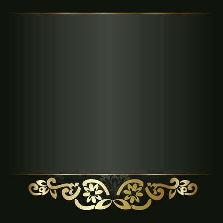 Artistic flower golden background for your text Vectores