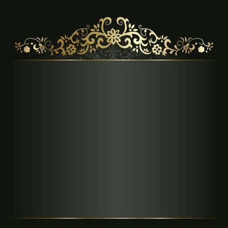 Artistique de fond fleur d'or pour votre texte Vecteurs