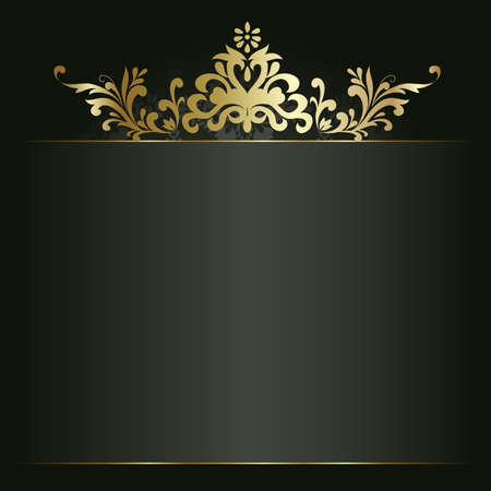 Artistic flower golden background for your text Illustration