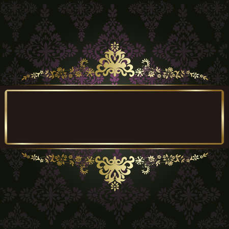 Artistic flower golden background for your text Vector