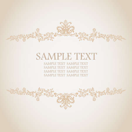 Frame floral background. Vector