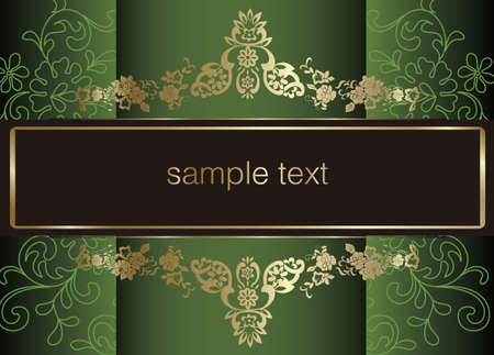 advertising text: artistic flower background for your text.  Illustration