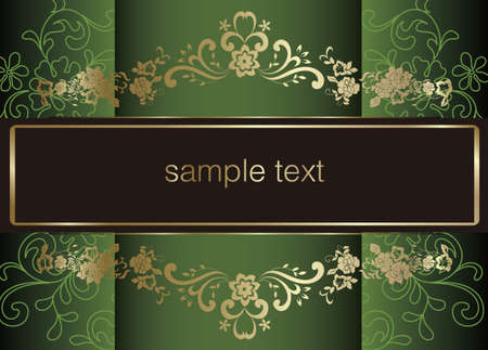 artistic flower background for your text. Stock Vector - 11850587