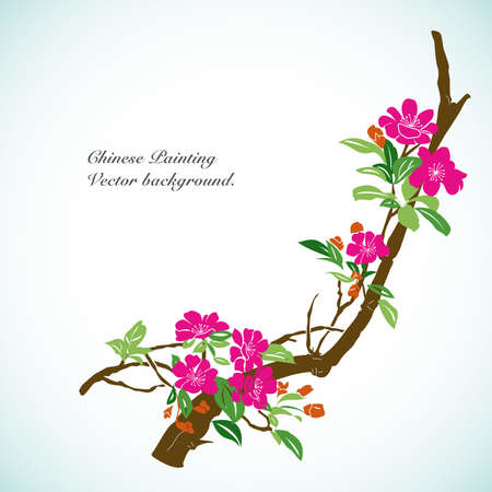 Bamboo - Chinese Painting Vector Background. Stock Vector - 12410010