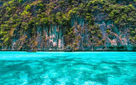 phi phi island: Beautiful crystal clear sea at tropical island, Phi Phi island, Andaman sea, Thailand