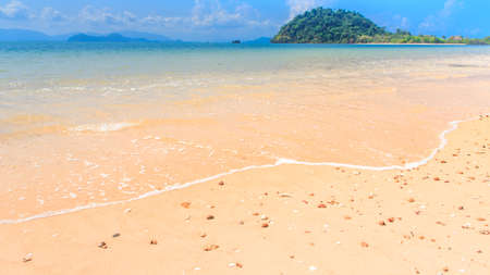 Isolated beach on tropical island, Koh Payam, Ranong, Thailand photo