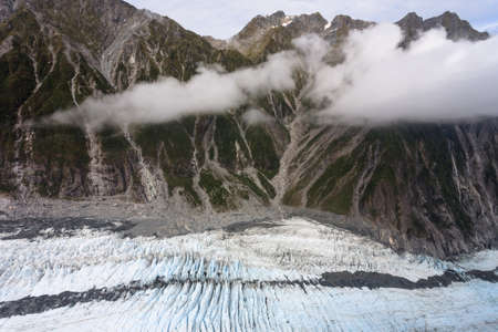 franz: Franz Josef Glacier from top view, New zealand