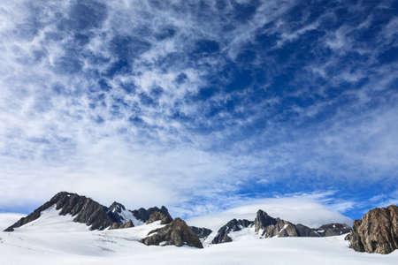 josef: Franz Josef Glacier from top view, New zealand