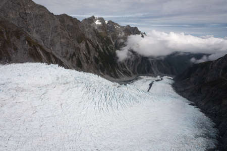 Franz Josef Glacier from top view, New zealand photo