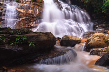 Tad Mok Waterfall, Chiang Mai, Thailand photo