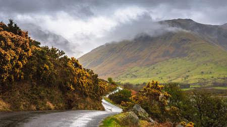 cumbria: Beautiful landscape of Wast water, Lake District, Cumbria, England Stock Photo