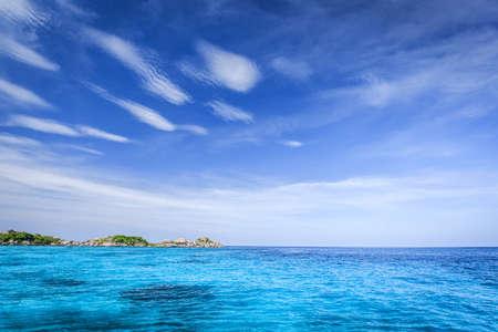 Crystal clear sea of tropical island, Similan, Thailand Stock Photo