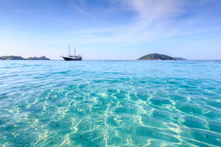 Crystal clear sea of tropical island, Similan, Thailand