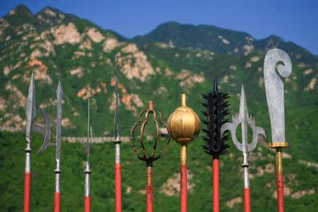 qin: Entomb warrior weapon at Great Wall, Beijing, China Stock Photo
