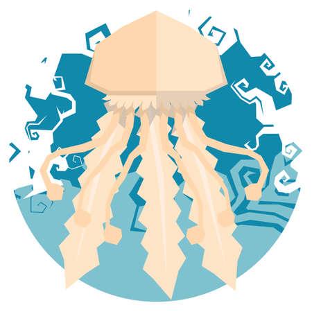 mollusc: jellyfish icon vector