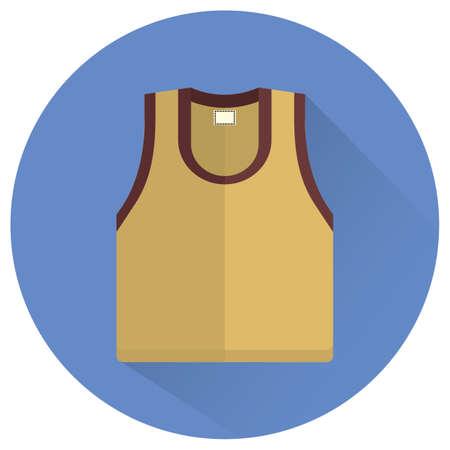 sleeveless: sleeveless shirt Illustration