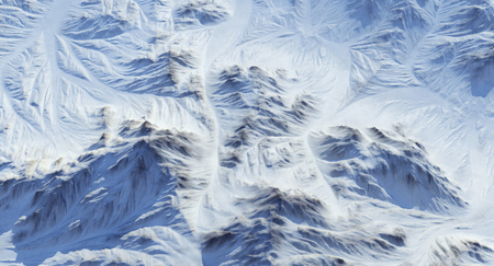 Snow Covered Rocky Mountains 3D Rendering Stock Photo - 123739160