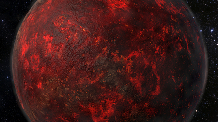 Lava Planet - Planet 55 Cancri e 3D rendering Stock fotó