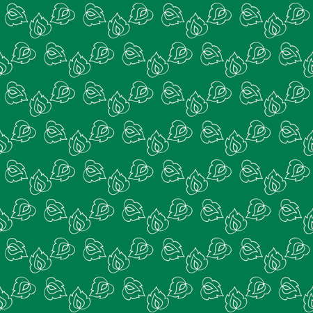 leafage: Stylized leaf seamless pattern in ethnic style. Monochrome vector illustration. Illustration
