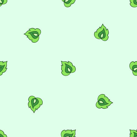 leafage: Stylized leaf seamless pattern in ethnic style. Vector illustration.