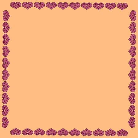 framework: Stylization Framework.  Illustration abstract framework. Template for Greeting Card.