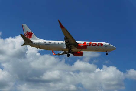 Kuala Lumpur, Malaysia, 17th Feb 2017, Lion Air aircraft on landing approach at the airport