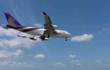 17th: Kuala Lumpur, Malaysia, 17th Feb 2017, Thai Airways Boeing 747 aircraft on landing approach at the airport