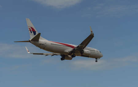 Kuala Lumpur, Malaysia, 17th Feb 2017, Malaysia Airlines aircraft on landing approach at the airport