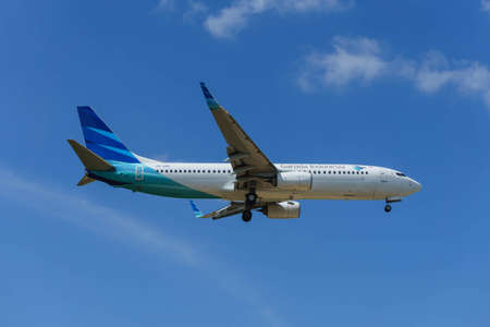 Kuala Lumpur, Malaysia, 17th Feb 2017, Garuda Indonesia aircraft on landing approach at the airport