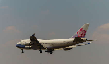 Kuala Lumpur, Malaysia, 15th March 2017, China Airlines Boeing 747 Cargo aircraft on landing approach at the airport