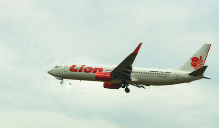Kuala Lumpur International Airport, 20th March 2017, Lion Air aircraft on landing approach at the airport