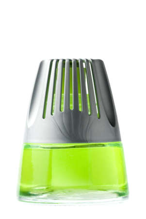 air diffuser: air freshner in glass container isolated on white background