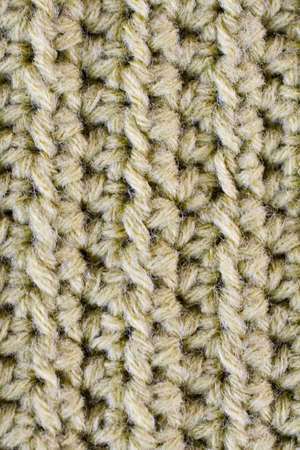 detail of crochetted  wool work Stock Photo