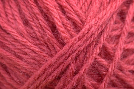 background of pink yarn closeup Stock Photo