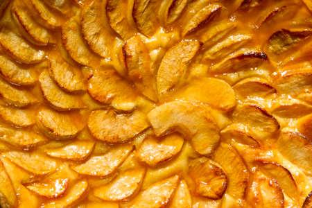 Homemade apple pie background